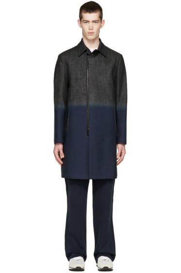 Fendi - Black Coated Denim Coat