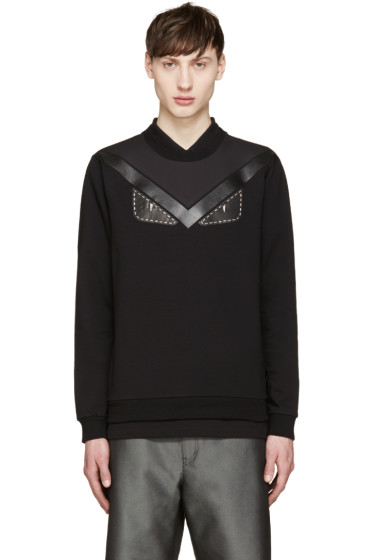Fendi - Black Studded Monster Eyes Pullover