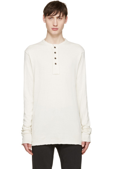 Song for the Mute - Off-White Knit Henley T-Shirt