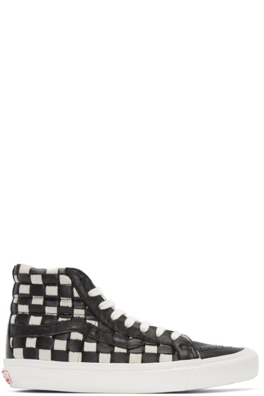 Vans - Black & White 50th OG SK8-Hi LX Sneakers