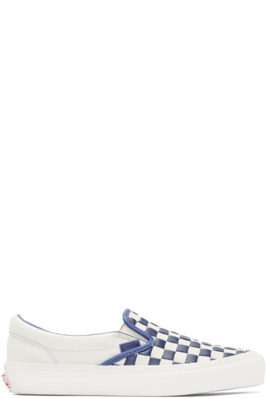 Vans - Navy & Off-White 50th OG Classic Slip-On LX Sneakers