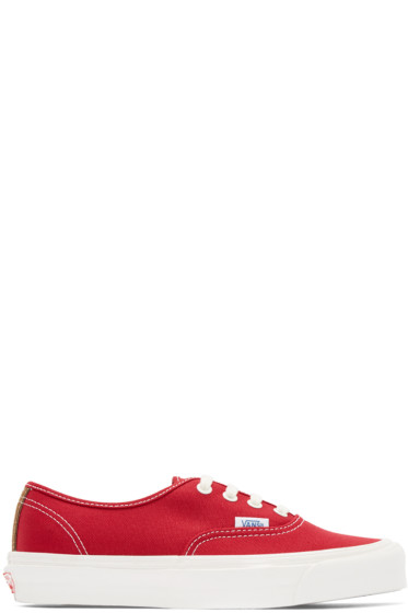 Vans - Red Canvas OG Authentic LX Sneakers