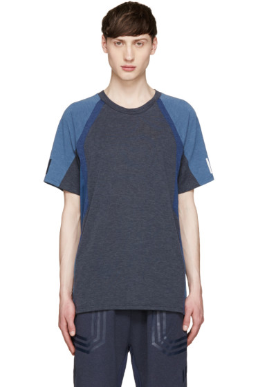 adidas x White Mountaineering - Navy Colorblocked T-Shirt