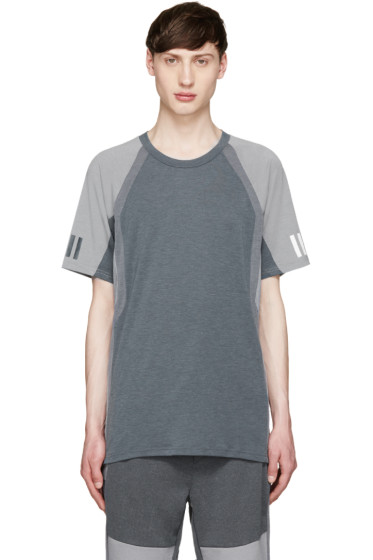adidas x White Mountaineering - Grey Colorblocked T-Shirt