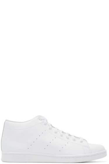 adidas Originals by Hyke - White Leather AOH-001 High-Top Sneakers