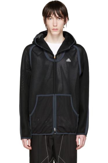 Adidas x Kolor - Black Spacer Zip-Up Hoodie