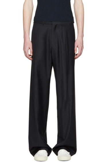 CMMN SWDN - Navy Wide-Leg Maxwell Trousers
