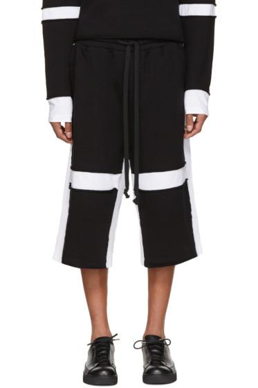 UEG - Black & White Sliced Lounge Shorts