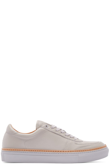 No.288 - Grey Leather Grand Low-Top Sneakers