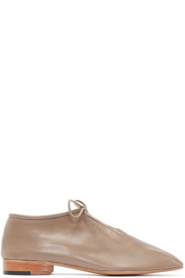 Martiniano - Taupe Leather Bootie Oxfords