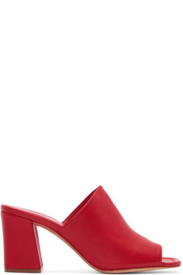 Maryam Nassir Zadeh - Red Leather Penelope Mules