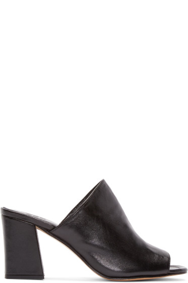 Maryam Nassir Zadeh - Black Leather Penelope Mules
