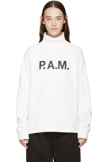 Perks and Mini - SSENSE Exclusive White Logo Pullover