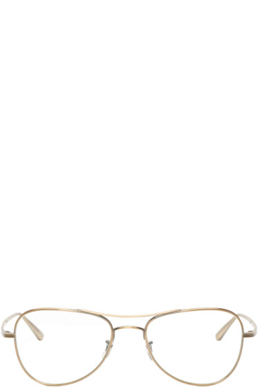 Oliver Peoples The Row - Gold Executive Suite Optical Glasses