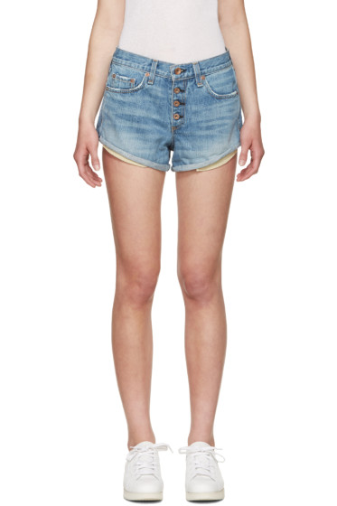 Rag & Bone - Blue Jeans Marilyn Fly Shorts