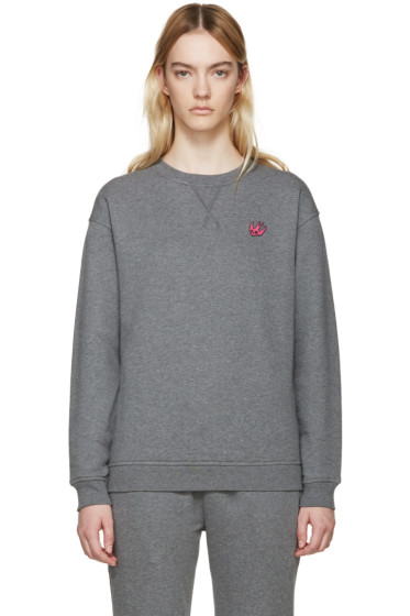 McQ Alexander Mcqueen - Grey Embroidered Pullover