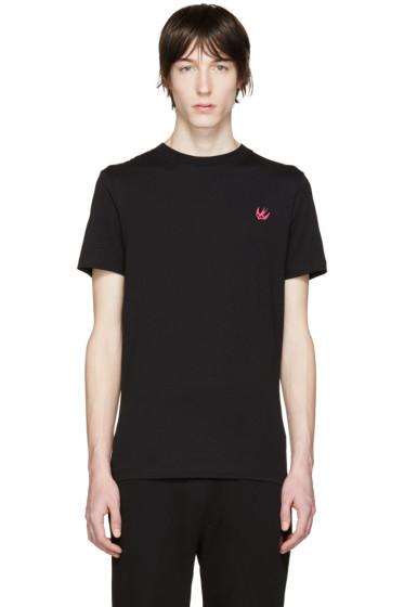 McQ Alexander Mcqueen - Black Embroidered T-Shirt