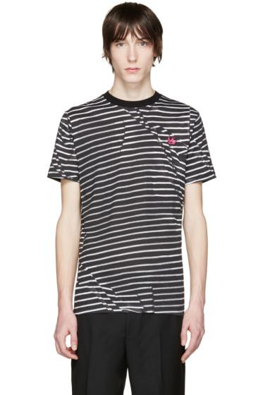 McQ Alexander Mcqueen - Black & Grey Distort T-Shirt