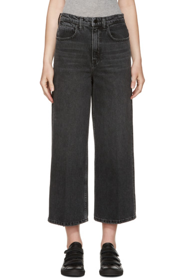 Alexander Wang - Grey Wide-Leg Drill Jeans
