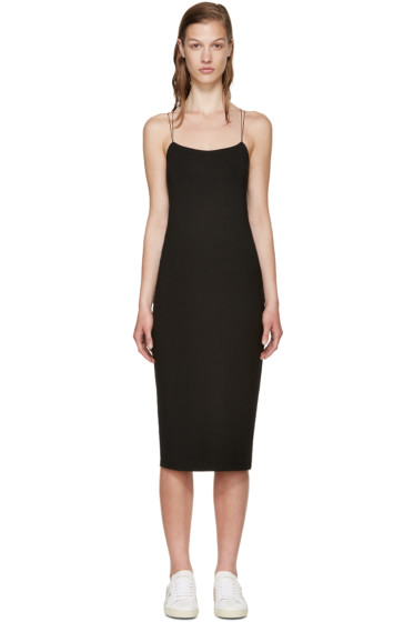 T by Alexander Wang - Black Jersey Cut-out Dress