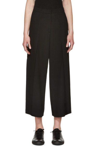 T by Alexander Wang - Black Flared & Cropped Trousers