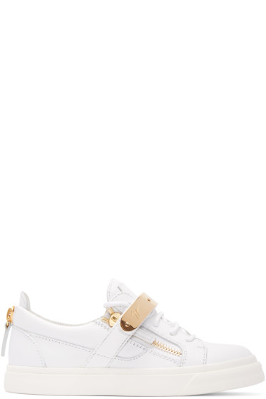 Giuseppe Zanotti - White Leather London Low-Top Sneakers