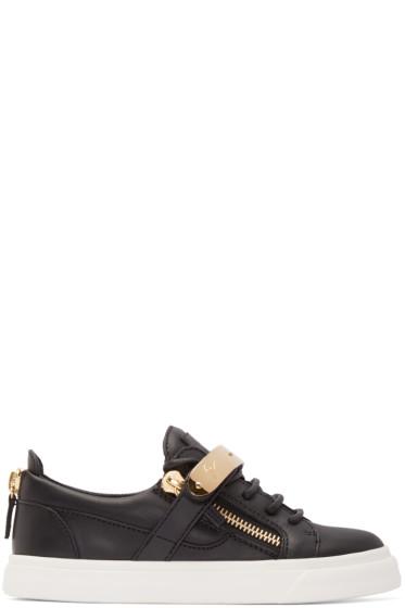 Giuseppe Zanotti - Black Leather London Low-Top Sneakers