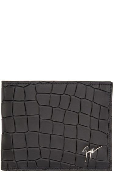 Giuseppe Zanotti - Black Croc-Embossed Wallet