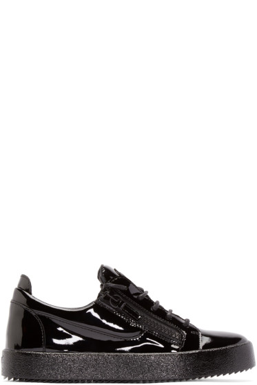 Giuseppe Zanotti - Black Patent Leather London Sneakers