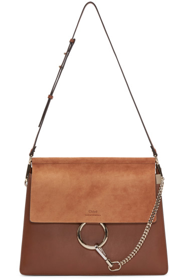 Chloé - Brown Leather & Suede Medium Faye Bag