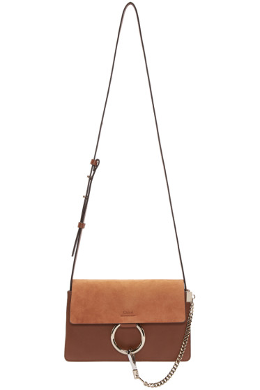 Chloé - Brown Leather & Suede Small Faye Bag