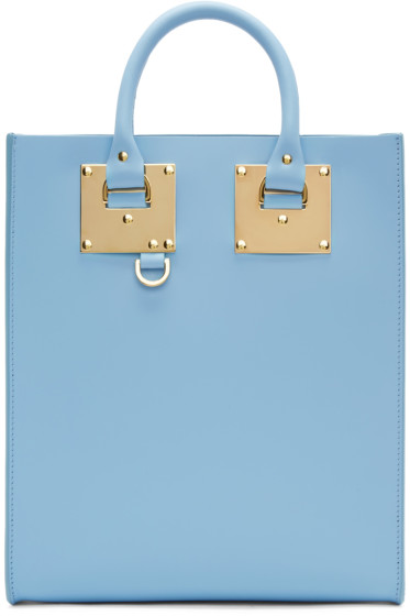 Sophie Hulme - SSENSE Exclusive Blue Mini Tote