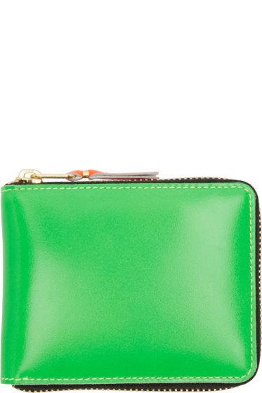 Comme des Garçons Wallets - Green  Super Fluo Zip-Around Wallet