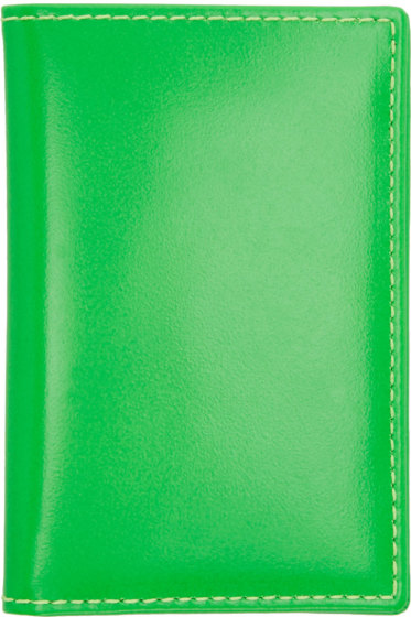 Comme des Garçons Wallets - Green Super Fluo Card Holder