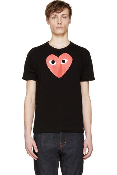 Comme des Garçons Play - Black & Red Logo T-Shirt