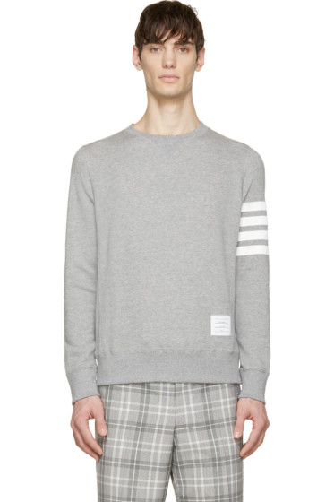Thom Browne - Heather Classic Stripe Sweatshirt