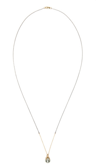 Pearls Before Swine - Silver & Gold Clutching Pearl Necklace