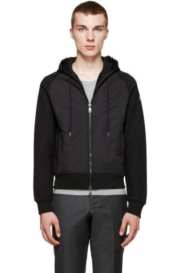 Moncler - Black Lined Zip-Up Hoodie