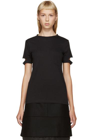 Helmut Lang - Black Slit Sleeves T-Shirt