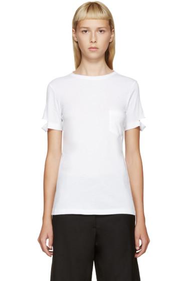 Helmut Lang - White Slit Sleeve T-Shirt