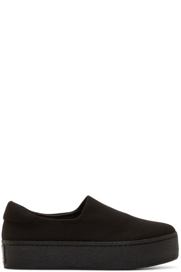 Opening Ceremony - Black Slip-On Platform Sneakers