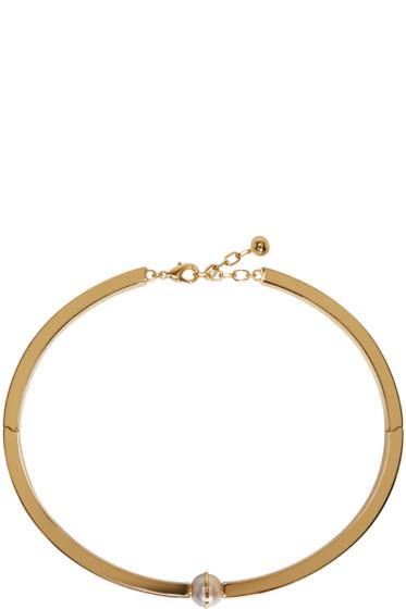Chloé - Gold & Pearl Darcy Rigid Necklace