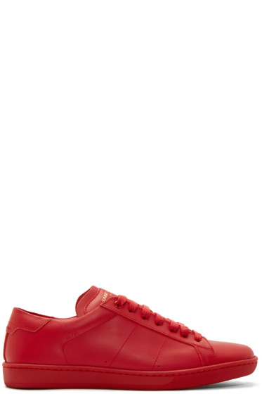 Saint Laurent - Red SL/01 Low-Top Sneakers