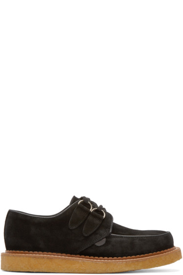 Underground - Black Suede Lace-Up Wulfrun Creepers