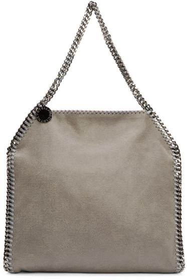 Stella McCartney - Light Grey Shaggy Deer Babybella Bag