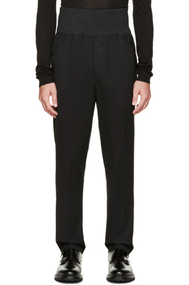 Thamanyah - Black Accent Waistband Trousers