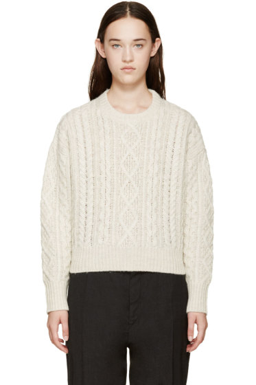 Isabel Marant Etoile - Ecru Cable Knit Newlyn Sweater