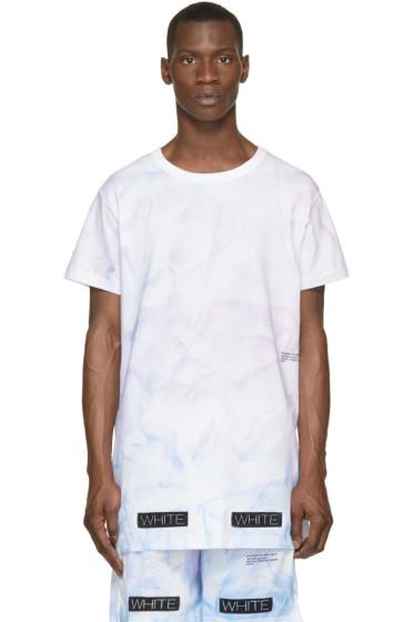 Off-White - SSENSE Exclusive Pink & Purple Tie-Dye T-Shirt
