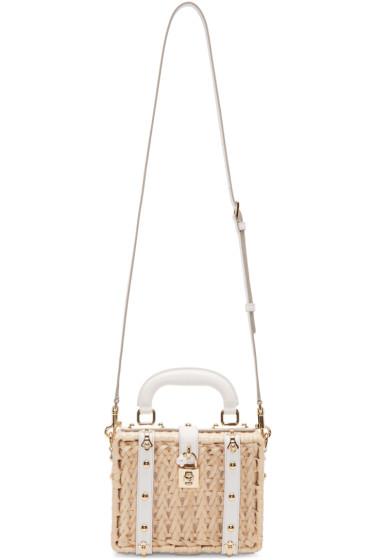 Dolce & Gabbana - Beige Wicker Dolce Bag