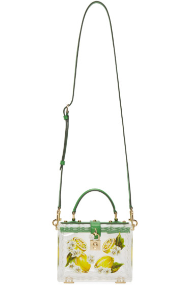 Dolce & Gabbana - Clear Plexi Lemon Box Bag